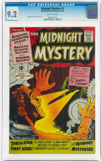 Midnight Mystery #1 (ACG, 1961) CGC NM- 9.2 Off-white pages
