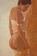 Works on Paper, Robert Roark (American, b. 1944). Nude. Pastel on brown Cranston paper. 12-1/2 x 9 inches (31.8 x 22.9 cm). Signed lower...