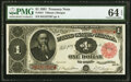 Large Size:Treasury Notes, Fr. 351 $1 1891 Treasury Note PMG Choice Uncirculated 64 EPQ.. ...