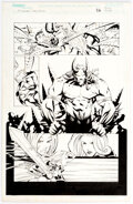 Original Comic Art, Francis Manapul and John Livesay Witchblade / Lady Death #1 Story Page 26 Original Art (Image, 2001)....