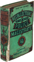 Books:Mystery & Detective Fiction, Henry Robert Addison. Recollections of an Irish Police Magistrate. London: Ward and Lock, 1862. First edition....