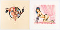 Memorabilia:Comic-Related, Dave Stevens Rocketeer and Betty Signed Limited Edition Lithograph Prints Group of 2 (c. 1990s)....