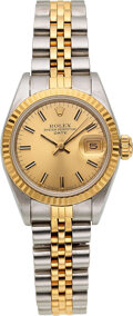 Timepieces:Wristwatch, Rolex, Lady's Two Tone Oyster Perpetual Date, circa 1985. ...
