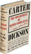 Books:Mystery & Detective Fiction, Carter Dickson. The Department of Queer Complaints. London: William Heinemann Ltd., [1940]. First English edition....
