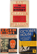 Books:Mystery & Detective Fiction, Kay Cleaver Strahan. Group of Three Mysteries. Garden City: Published for The Crime Club, Inc., 1930-1932. First editions. ... (Total: 3 )