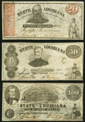 Obsoletes By State:Louisiana, Shreveport, LA- State of Louisiana $20; $50; $100 Mar. 10, 1863 Very Fine or Better.. ... (Total: 3 notes)