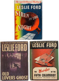 Books:Mystery & Detective Fiction, Leslie Ford. Siren in the Night. New York: Charles Scribner's Sons, 1943. First edition. ... (Total: 3 Items)