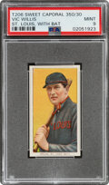Baseball Cards:Singles (Pre-1930), 1909-11 T206 Sweet Caporal 350/30 Vic Willis (With Bat) PSA Mint 9 - Pop One, None Higher! ...