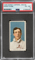 Baseball Cards:Singles (Pre-1930), 1909-11 T206 Sweet Caporal 350/30 Eddie Plank PSA EX-MT 6....