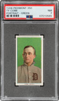 Baseball Cards:Singles (Pre-1930), 1909-11 T206 Piedmont 350 Ty Cobb (Portrait-Green) PSA NM 7 - Pop One, One Higher With This Brand & Series....