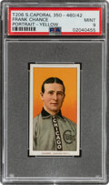 Baseball Cards:Singles (Pre-1930), 1909-11 T206 Sweet Caporal 350-460/42 Frank Chance (Portrait-Yellow) PSA Mint 9 - Overall, Pop Two With None Higher! ...