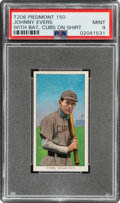 Baseball Cards:Singles (Pre-1930), 1909-11 T206 Piedmont 150 Johnny Evers (With Bat-Cubs Jersey) PSA Mint 9 - Pop Two, None Higher! ...