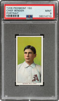 Baseball Cards:Singles (Pre-1930), 1909-11 T206 Piedmont 150 Chief Bender (Portrait) PSA Mint 9 - Pop Two, None Higher With This Brand & Series! ...