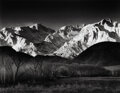 Photographs, Ansel Adams (American, 1902-1984). Sierra Nevada, Winter, from the Owen Valley, California, circa 1944. Gelatin silver, ...