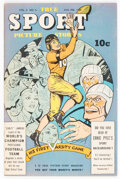 Golden Age (1938-1955):Non-Fiction, True Sport Picture Stories V3#5 (Street & Smith, 1946) Condition: VF....