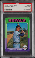 Baseball Cards:Singles (1970-Now), 1975 Topps Mini George Brett #228 PSA NM-MT 8....