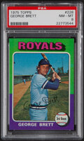 Baseball Cards:Singles (1970-Now), 1975 Topps George Brett #228 PSA NM-MT 8....