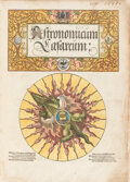 "Books:Science & Technology, [Petrus Apianus]. Astronomicum Caesareum. [Ingolstadt: In aedibus nostris, May 1540]. First edition of the ""most..."