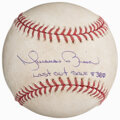 Autographs:Baseballs, 2006 Mariano Rivera Signed, Inscribed & Game Used Last Out Save 380 Baseball. ...