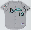 Baseball Collectibles:Uniforms, 2004 Mike Lowell Florida Marlins Team Issued Jersey....