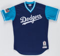 Baseball Collectibles:Uniforms, 2017 MLB Players' Weekend Logan Forsythe Game Used Jersey....