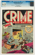 Golden Age (1938-1955):Crime, Crime Does Not Pay #31 (Lev Gleason, 1944) CGC FN+ 6.5 Off-white to white pages....