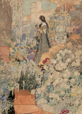 Paintings, Charles Robinson (British, 1870-1937). An Eve in this Eden, The Sensitive Plant interior book illustration, 1911. Waterc...