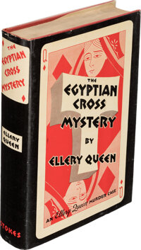 Ellery Queen. The Egyptian Cross Mystery. New York: Frederick A. Stokes, 1932. First edition