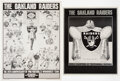 Football Collectibles:Others, Oakland Raiders Posters, Lot of 5...