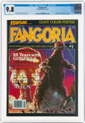 Magazines:Horror, Fangoria #1 (Starlog Press, 1979) CGC NM/MT 9.8 White pages....