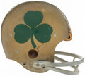 Football Collectibles:Helmets, 1960-62 Notre Dame Game Used Helmet. ...