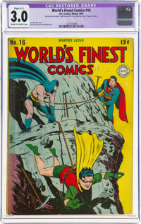 World's Finest Comics #16 (DC, 1944) CGC Apparent GD/VG 3.0 Slight (C-1) Cream to off-white pages