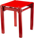 Furniture, Gerrit Thomas Rietveld (Dutch, 1888-1964). Military Stool, designed 1923. Lacquered wood, steel. 18 x 15-3/4 x 14 inches...