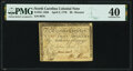 Colonial Notes:North Carolina, North Carolina April 2, 1776 $8 Rooster Fr. NC-165b PMG Extremely Fine 40.. ...