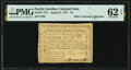 Colonial Notes:North Carolina, State of North Carolina August 8, 1778 $4 A Lesson... Fr. NC-175 PMG Uncirculated 62 EPQ.. ...