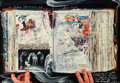 Photographs, Peter Beard (American, 1938-2020). Emergency All-Nighter in Tokyo, 1994. Dye coupler and oil paint. 13 x 18-1/2 inches (...