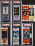 Football Collectibles:Tickets, 2002-2010 Super Bowl Full Tickets, Lot of 7.... (Total: 5 items)