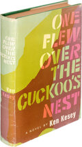 Books:First Editions, Ken Kesey. One Flew Over the Cuckoo's Nest. New York: The Viking Press, [1962]. First edition, first state, in the f...
