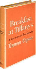 Books:First Editions, Truman Capote. Breakfast at Tiffany's. A Short Novel and Three Stories. New York: Random House, [1958]. First ed...