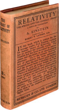 Books:Science & Technology, Albert Einstein. Relativity. The Special & the General Theory. London: Methuen & Co., [1920]. First edition in E...
