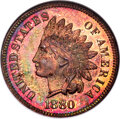 Proof Indian Cents: , 1880 1C PR65 Red and Brown ANACS. Mintage 3,955. ...
