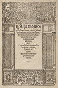 Books:Early Printing, Geoffrey Chaucer. The workes of Geffrey Chaucer, newlie printed, with divers addicions, whiche were never in print befor...