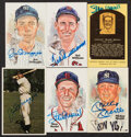 Autographs:Post Cards, Baseball Greats Signed Postcards, Lot of 6....