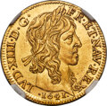 France, France: Louis XIII gold Louis d'Or 1641-A MS65 NGC,...