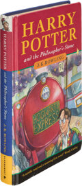 Books:Children's Books, J. K. Rowling. Harry Potter and the Philosopher's Stone. [London]: Bloomsbury, [1997]. First edition....