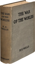 Books:Science Fiction & Fantasy, H. G. Wells. The War of the Worlds. London: William Heinemann, 1898. First edition, first issue, with 16-page publis...