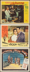 """Movie Posters:Science Fiction, Invaders from Mars & Other Lot (20th Century Fox, 1953). Very Fine-. Lobby Cards (3) (11"""" X 14""""). Science Fiction.. ... (Total: 3 Items)"""