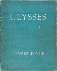 James Joyce. Ulysses. First edition, limited to 1,000 copies, of which this is number 868, one