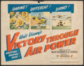 """Movie Posters:War, Victory Through Air Power (United Artists, 1943). Fine-. Title Lobby Card (11"""" X 14""""). War.. ..."""