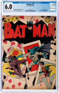 Batman #11 (DC, 1942) CGC FN 6.0 Off-white to white pages